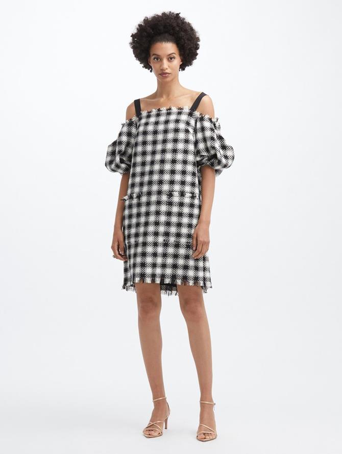 Off Shoulder Trapeze Dress
