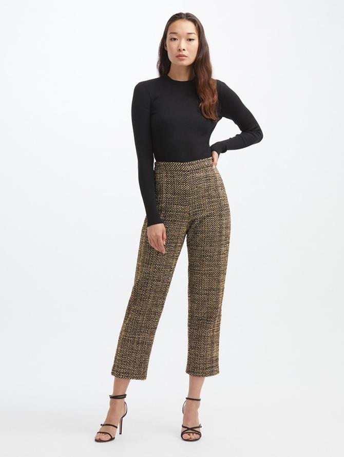 Lurex Tweed Crop Pant