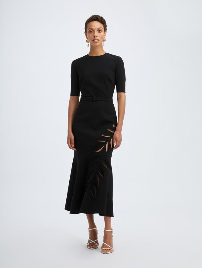 Stretch Wool Cocktail Dress