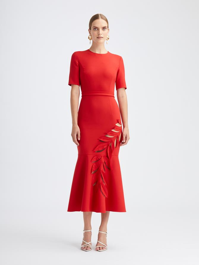 Stretch Wool Cocktail Dress