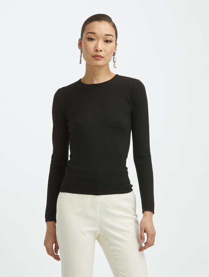 Cashmere Silk Crewneck Pullover