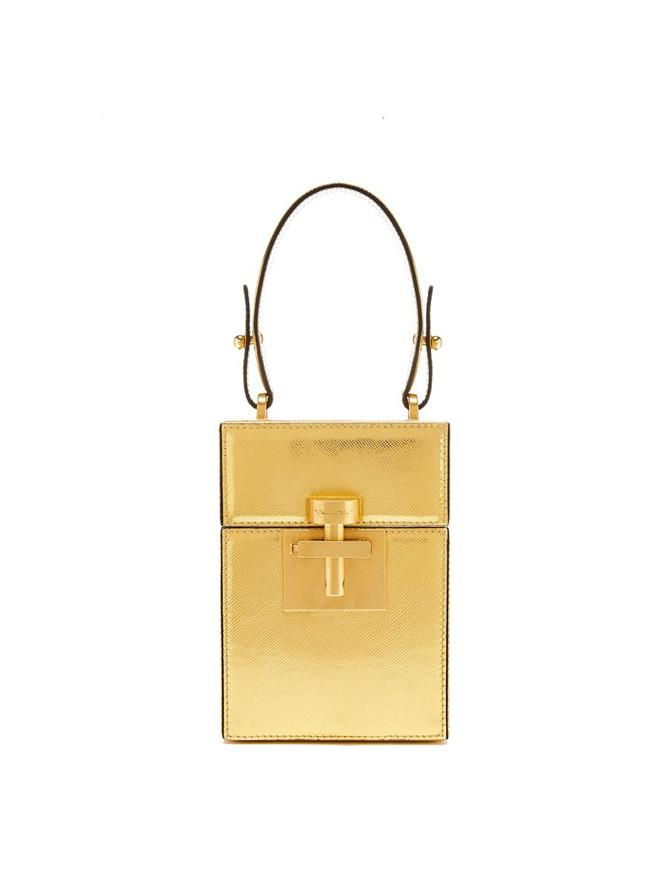 Gold Saffiano Alibi Bag