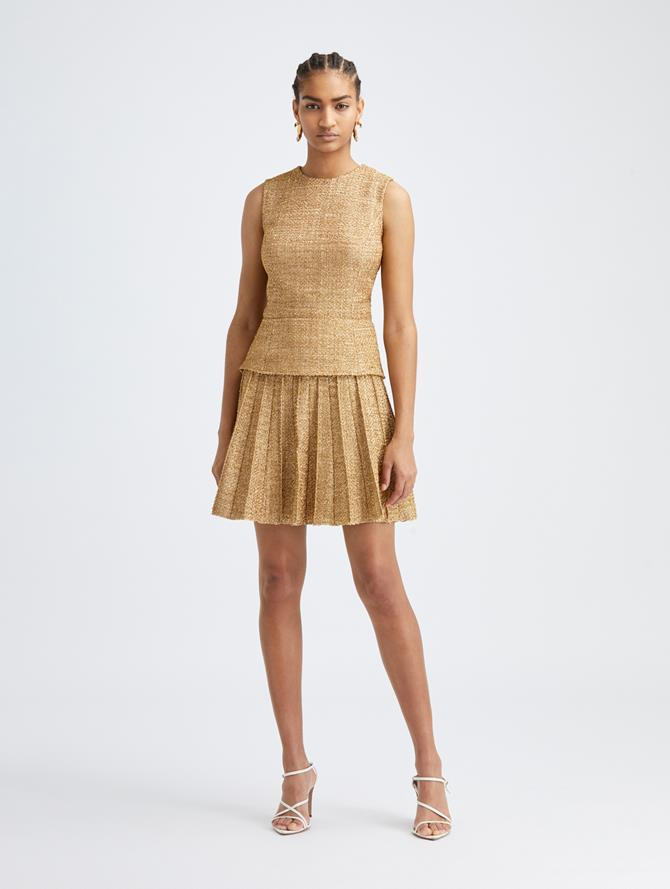 Lurex Pleated Dress