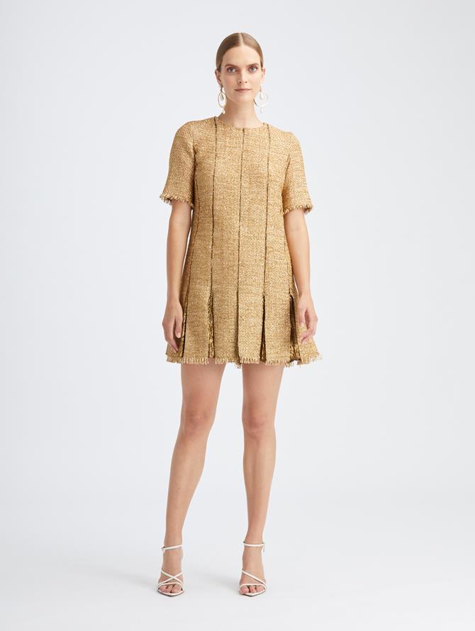 Lurex Tweed Swing Dress