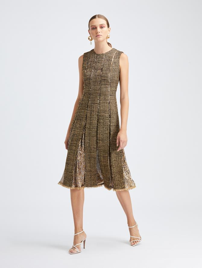 Sleeveless Lurex Tweed Dress