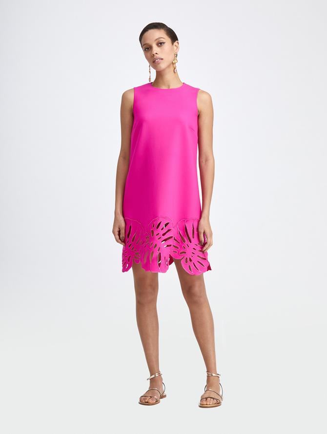 PALM LEAF SHIFT DRESS