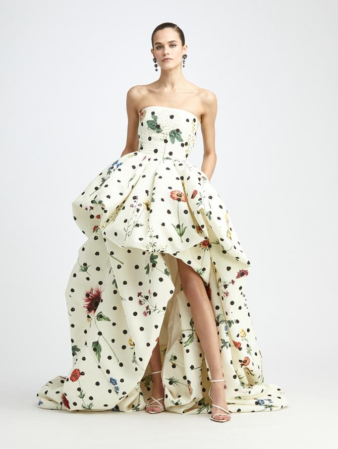 BOTANICAL DOT HIGH LOW GOWN