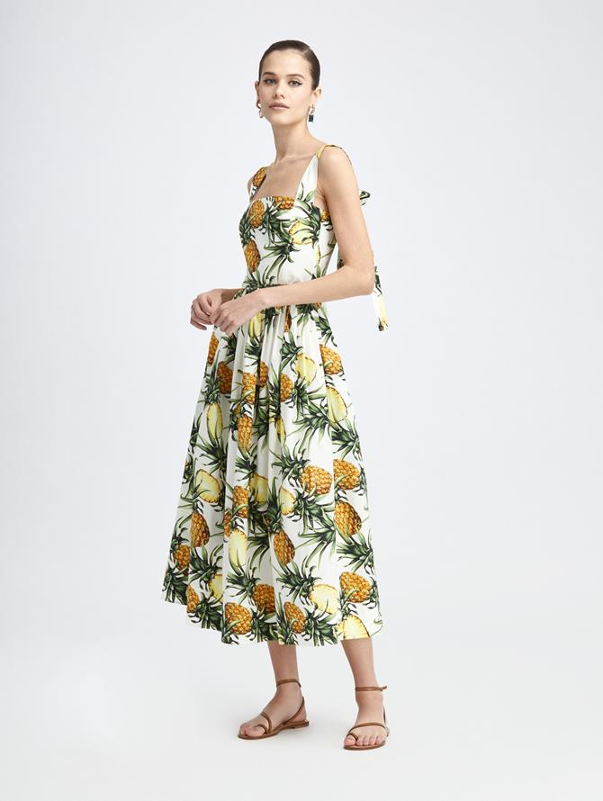 VINTAGE PINEAPPLE TIE BACK DRESS