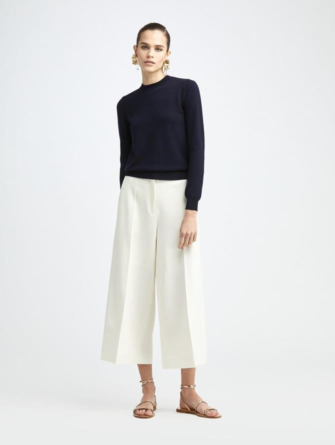 DOUBLE FACE CULOTTE PANT