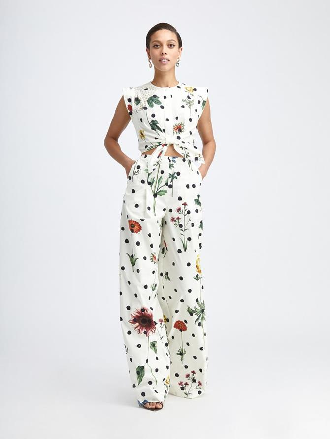 BOTANICAL DOT CUT OUT JUMPSUIT