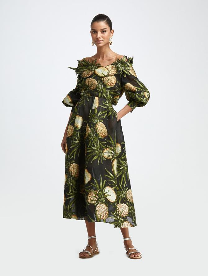 PINEAPPLE FIL COUPÉ MIDI SKIRT