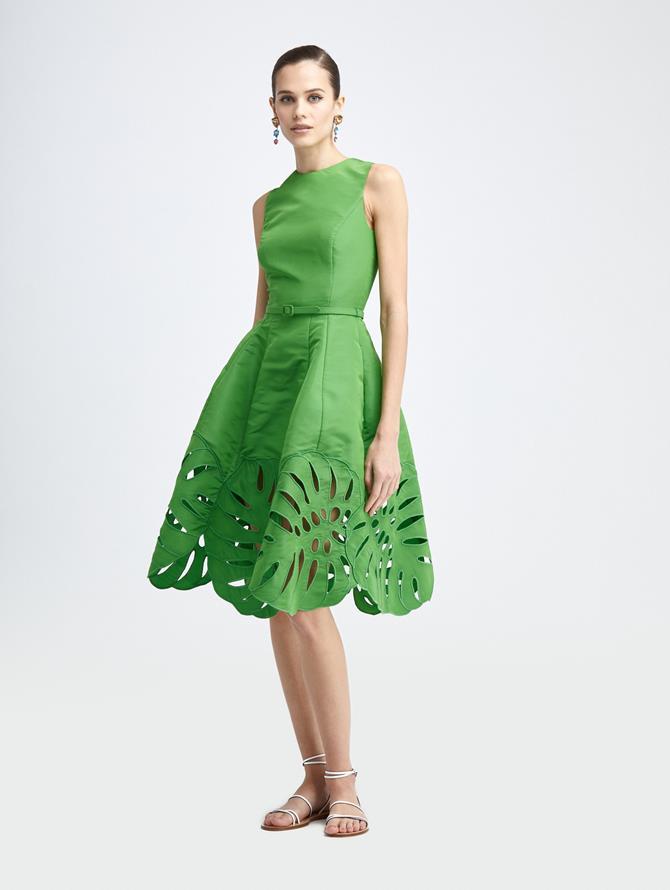 PALM LEAF A-LINE DRESS