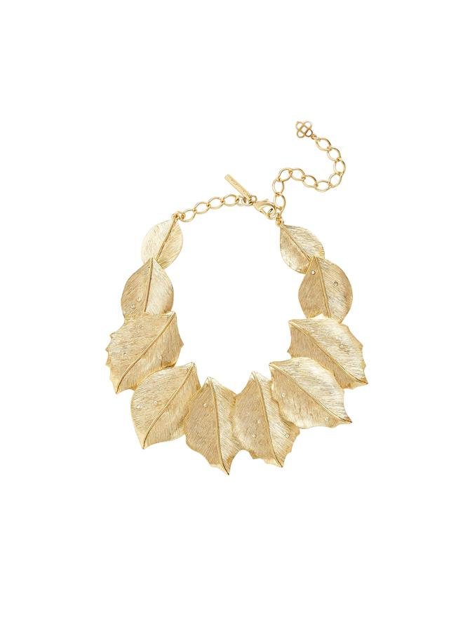 Layered Leaf Necklace