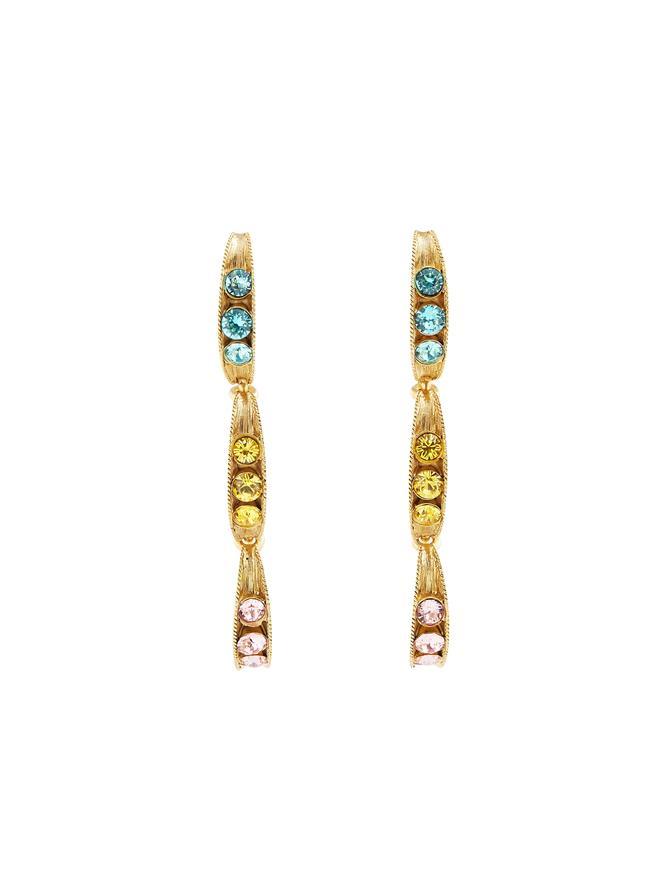 Triple Peapod Drop Earrings