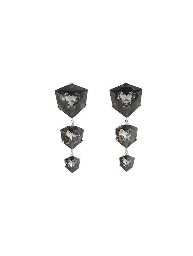 Triple Diamond Drop Earrings