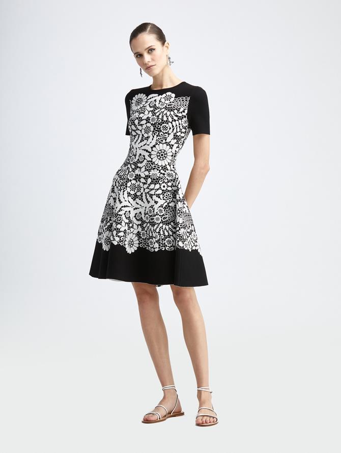 Guipure Knit Dress