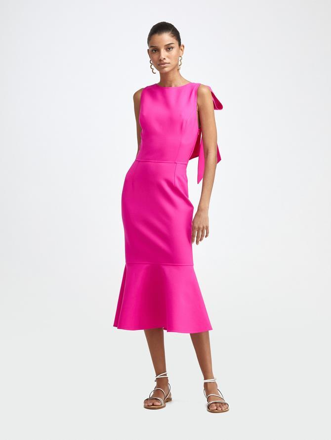 Cross Back Wool Dress