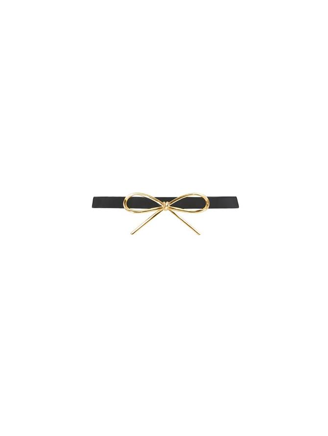 Tailored Leather Bow Belt