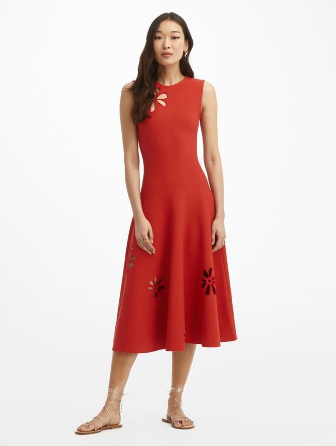 Laser Cut Cosmo Knit Dress