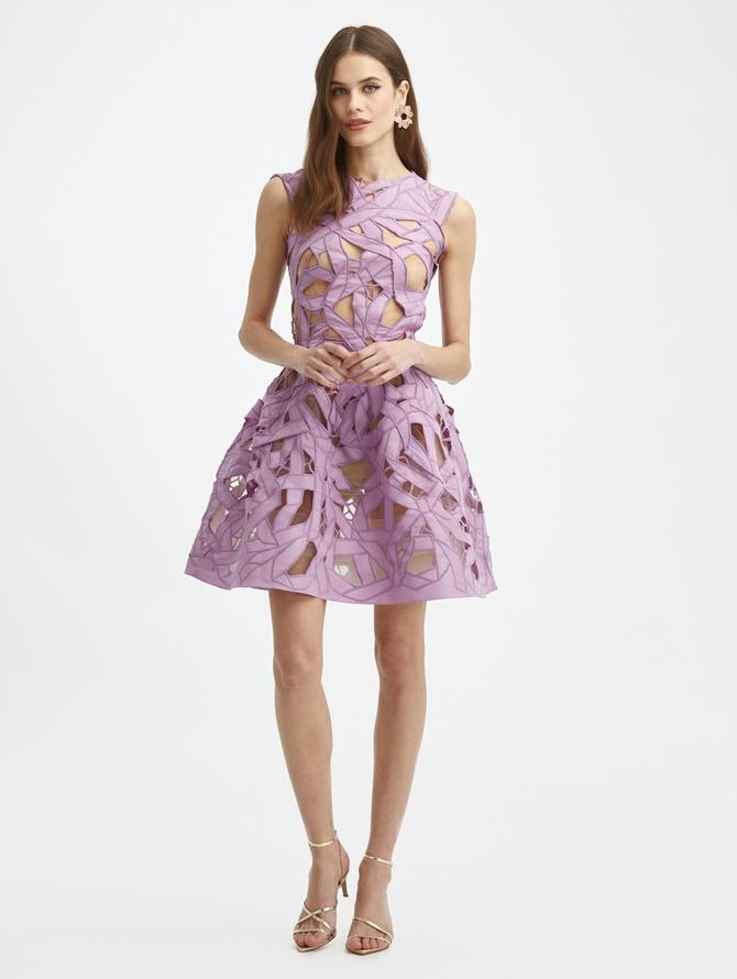 Lupine Cutout Bow Dress