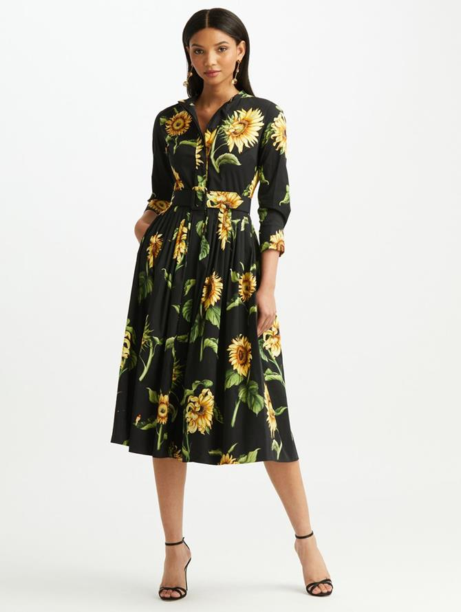 Sunflower Cotton Poplin Shirtdress