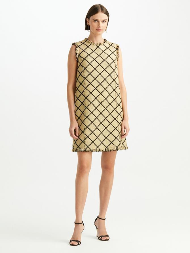 Lurex Tweed Shift Dress