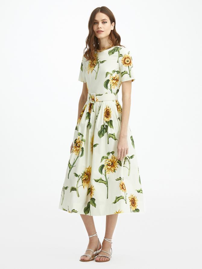 Sunflower Poplin Dress