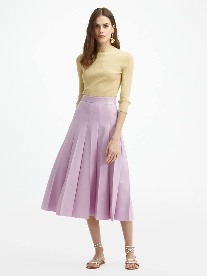 Pintuck Pleated Skirt