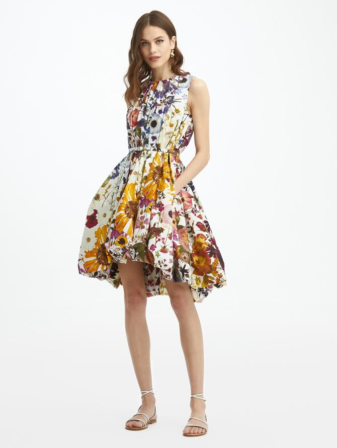 Bubble Hem Cotton Poplin Dress