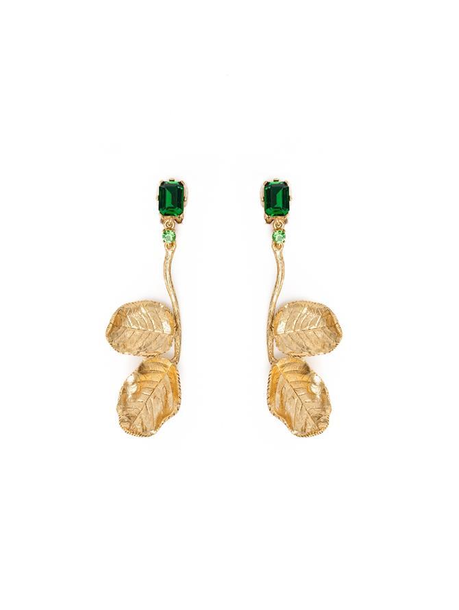 Rose Leaf Earrings