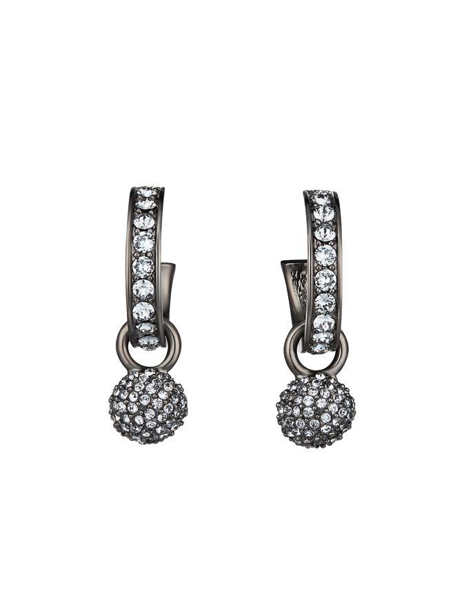Pave Ball Mini Hoop Earrings