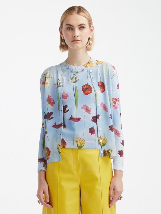 Floral Sky Printed Cardigan