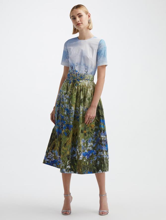 Floral Field Poplin Dress
