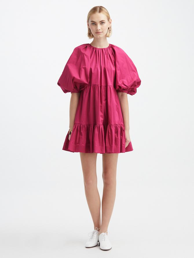 Shirred Bow Back Dress