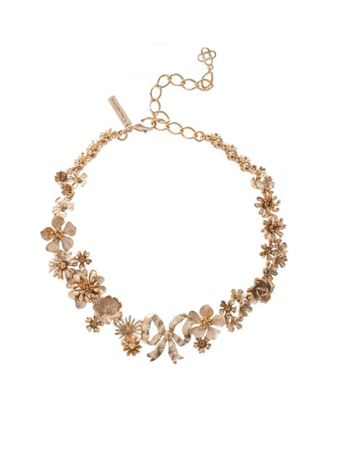 Floral Bow Necklace