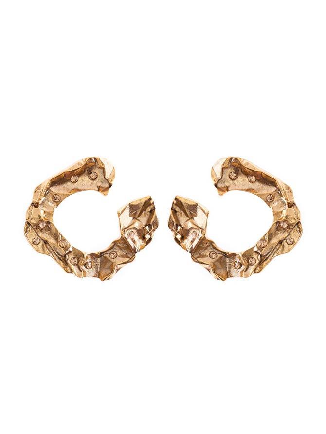 Crushed Metal Earring