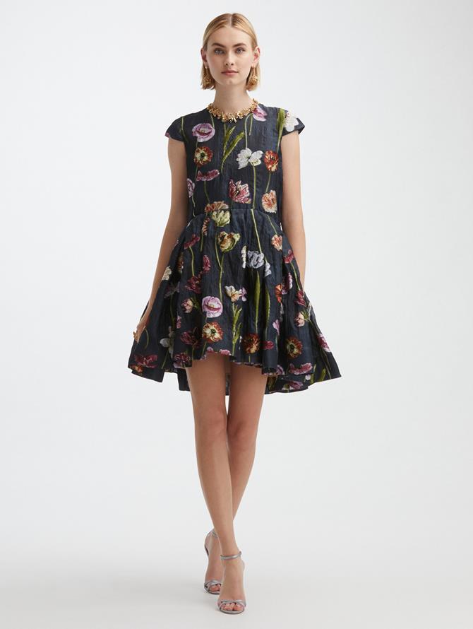 Cap Sleeve Flounce Dress